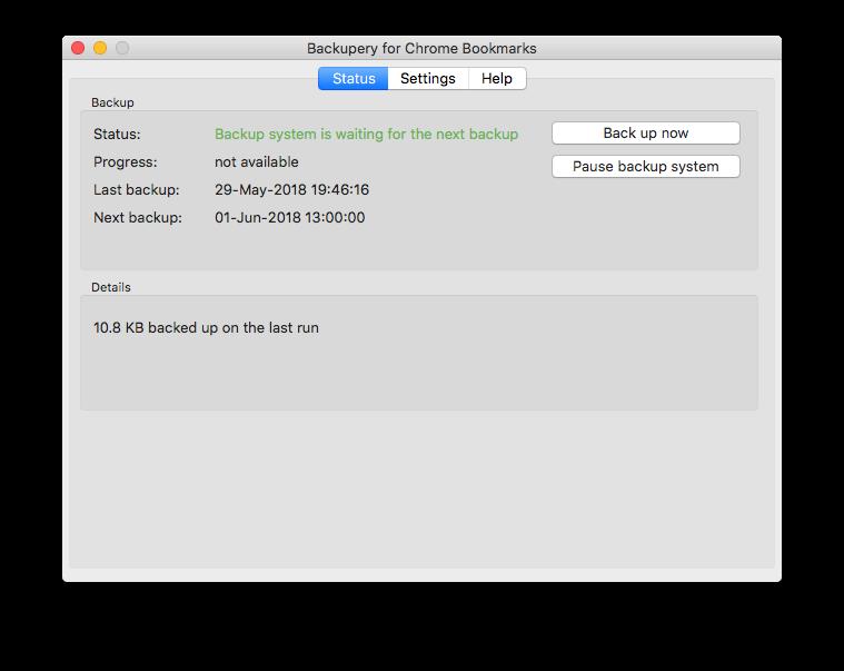 Backupery for Google Chrome Bookmarks